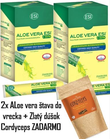 Aloe vera x2 + Cordyceps ZADARMO