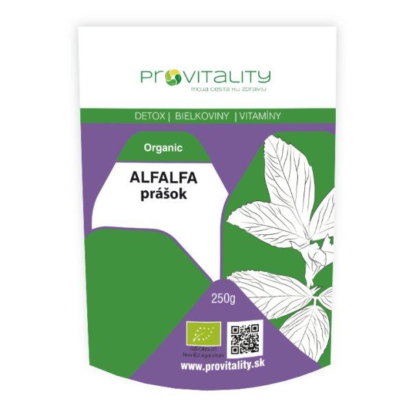 Alfalfa organic prášok
