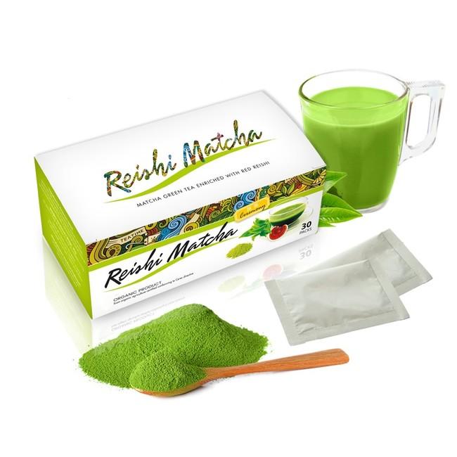 Bio reishi matcha čaj - zelený čaj