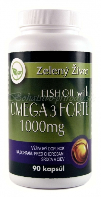 Fish oil with Omega-3 Forte 1000mg 90 kapsúl