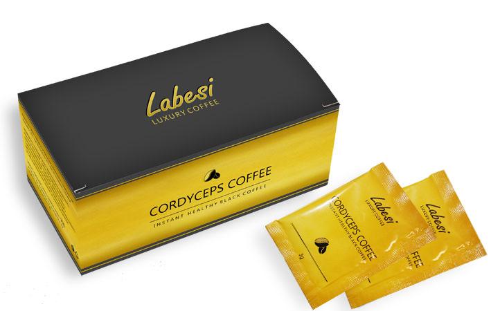 Káva s extraktom huby Cordyceps
