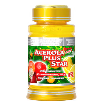 Acerola plus star - vitamín C 500mg