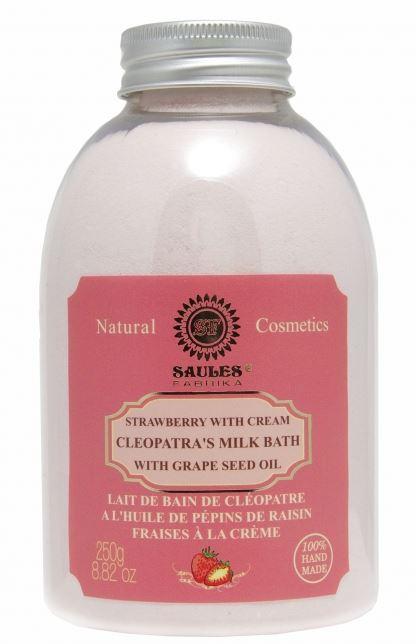 Kleopatrin mliečny kúpeľ - jahody so šľahačkou, 250g