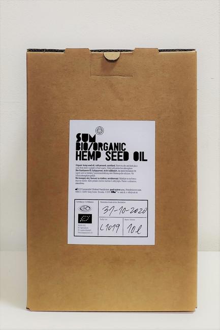 Konopný olej BIO 10l bag in box- SUM