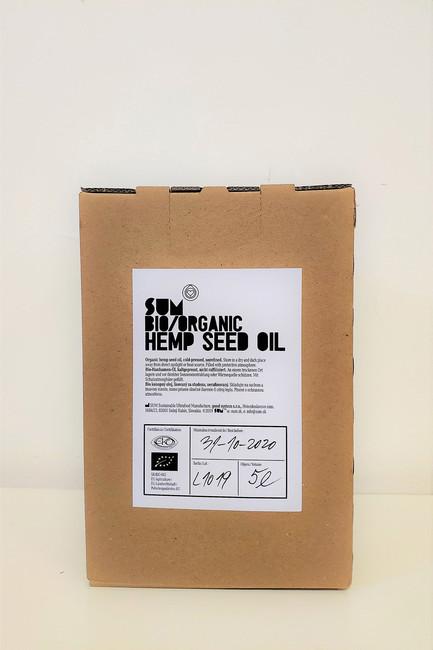 Konopný olej BIO 5l bag in box- SUM