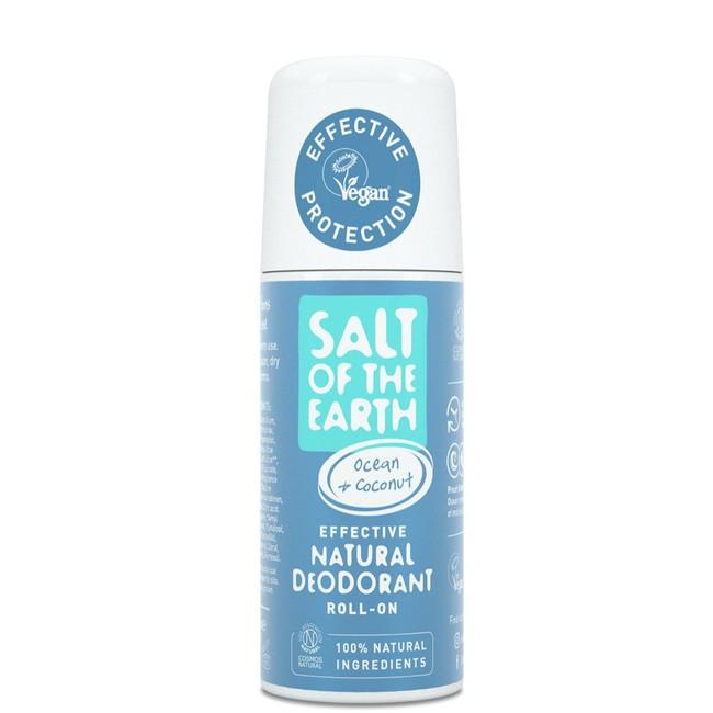 Prírodný kryštálový deodorant - oceán - kokos - roll on 75 ml