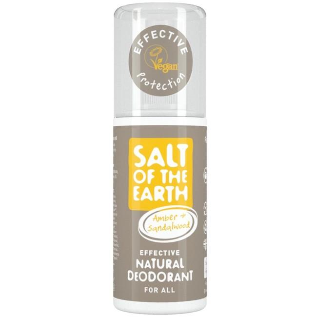 Prírodný kryštálový deodorant PURE AURA - jantár, santalové drevo, sprej 100ml