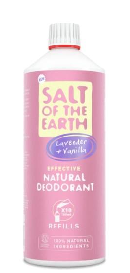 Prírodný kryštálový deodorant PURE AURA - levandula, vanilka, 1000ml náplň