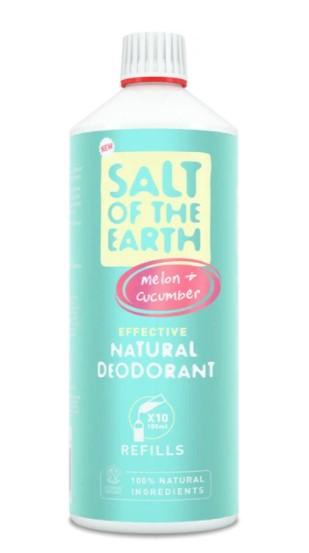 Prírodný kryštálový deodorant PURE AURA - melón, uhorka-sprej 1000ml - náplň