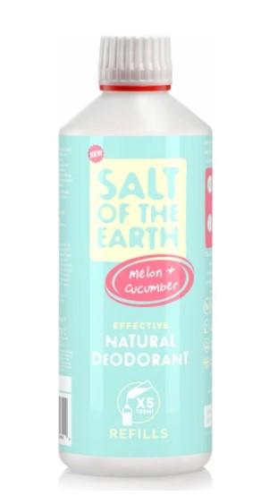 Prírodný kryštálový deodorant PURE AURA - melón, uhorka-sprej 500ml - náplň
