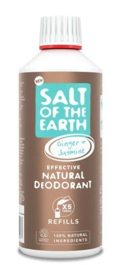 Prírodný kryštálový deodorant - zázvor + jazmín - náplň 500 ml