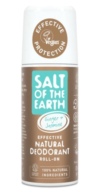 Prírodný kryštálový deodorant - zázvor + jazmín - roll on 75ml