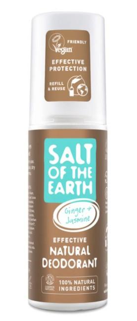 Prírodný kryštálový deodorant - zázvor + jazmín - sprej 100 ml