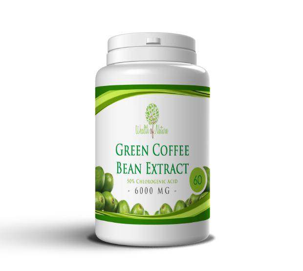 Zelená káva 6000mg, 60 kapsúl
