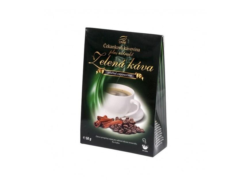 Zelená káva s kapučínom