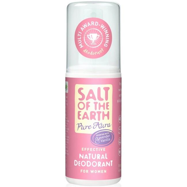 Prírodný kryštálový deodorant PURE AURA - levandula, vanilka, sprej 100ml