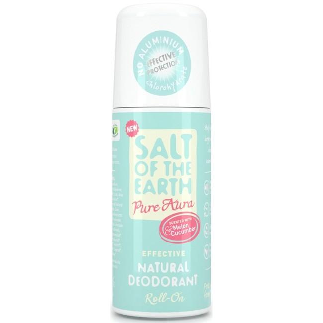 Prírodný kryštálový deodorant PURE AURA - melón, uhorka roll on 75 ml