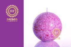 Sviečka LUXURY - guľa, fuchsia-fialová