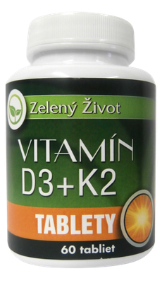 Vitamín D3 + K2, 60 tbl.