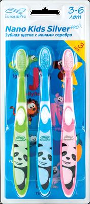 Zubné kefky- NANO KIDS SILVER 3-6